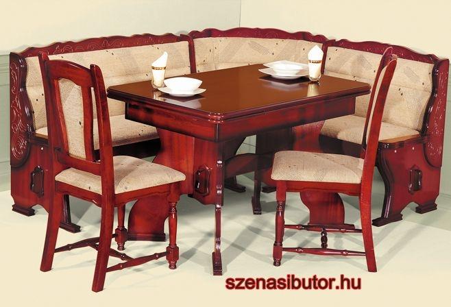 Szénási Bútor - Dortmund classic konyhai sarok étkező garnitúra ...
