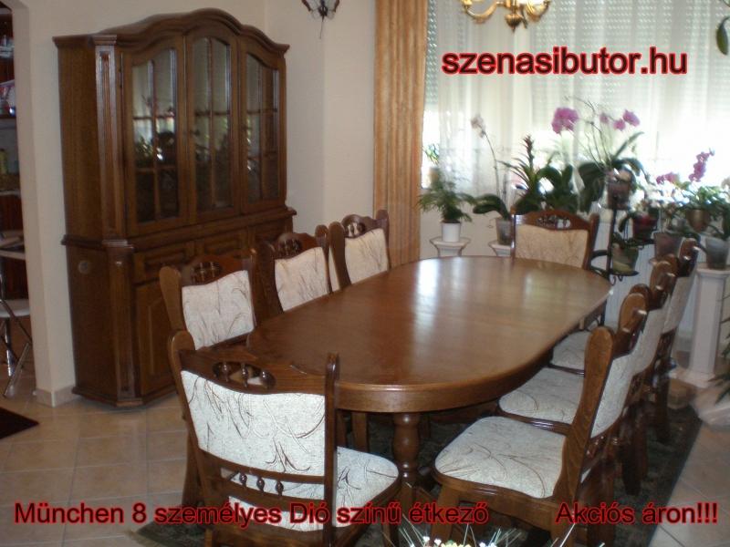 Szénási Bútor - München étkező garnitúra 8 személyes asztal szék 3 ...
