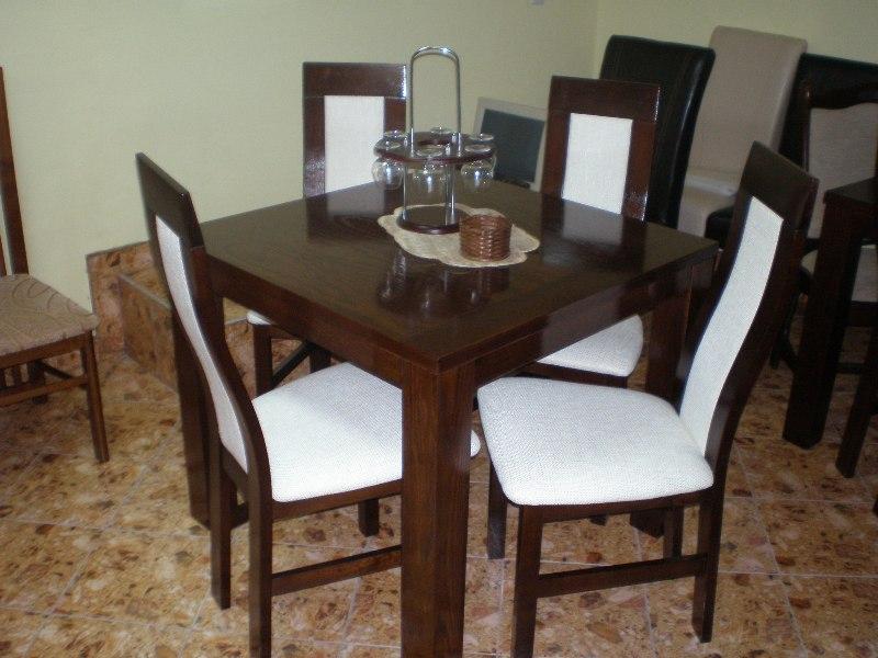 Szénási Bútor - Dante étkező 4 személyes modern tömör fa asztallal ...