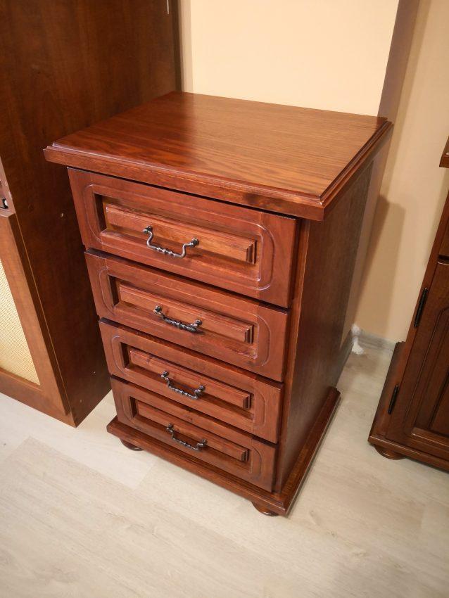 tálaló szekrény s31 4 fiókos tölgy fa komód