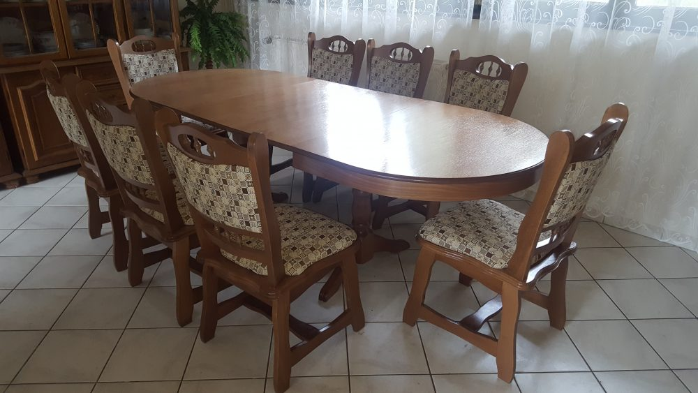 münchen max étkező garnitúra európa nagy ovalis asztallal székkel