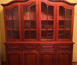 4-es tálalószekrény 4 ajtós tálaló vitrin komód
