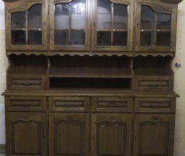 4-es tálaló 4 ajtós tálaló szekrény vitrin komód